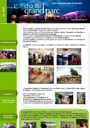 The digital Grand Parc Echo (Summer 2014)