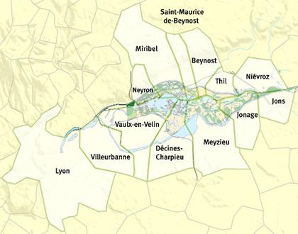Carte administrative des 16 collectivités du Symalim