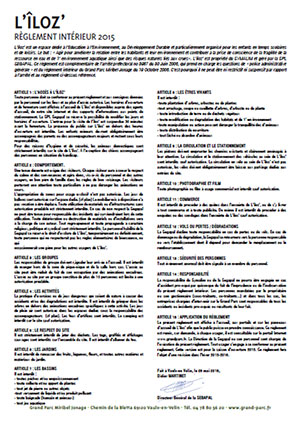 Rules and regulations of L'îloz'