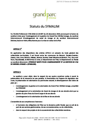 Nouveaux Statuts Symalim