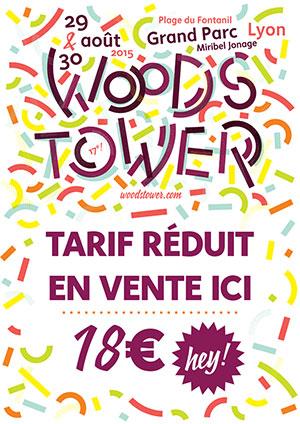 Vente de place pour Woordstower 2015 à prix préférentiel